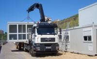 installation par camion grue